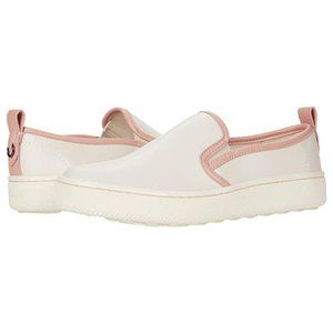 NEW Coach Slip-On Leather Sneaker Petal Pink Trim